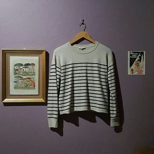 Madewell cropped striped sweater